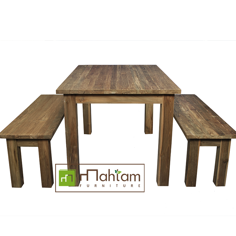 Bar Height Glass Table, Recycled Teak Furniture Dining Table Sets M Dt01 Recycled Teak Indonesia